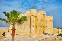 Le fort en pierre, l'Alexandrie, Egypte photographie stock libre de droits