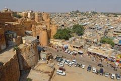 Le fort et la ville de Jaisalmer Photos libres de droits