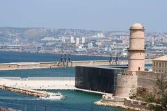 Le fort helgonjean, marseille, Frankrike Arkivbild