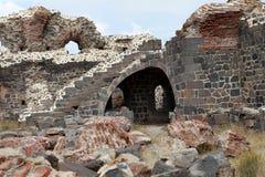 Le fort I d'Aziziye dans Erzurum, Turquie Images libres de droits