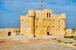 Le fort médiéval de l'Alexandrie, Egypte images stock