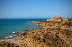 Le fort national au saint Malo Photographie stock