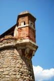 Le fortificazioni della città murata graziosa di Villfranche de Conflent nel sud della Francia Date medievali di questa città di  Fotografie Stock