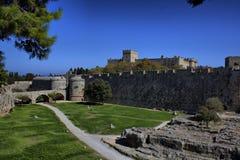 Le fortificazioni di Rodi Fotografia Stock Libera da Diritti