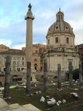 Le forum était le centre de la vie de jour en jour à Rome photographie stock