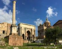 Le forum était le centre de la vie de jour en jour à Rome image libre de droits