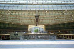 Le forum des Halles a modern shopping mall in central Paris France. Paris France, 14 July 2018: Le forum des Halles a modern shopping mall in central Paris royalty free stock image