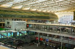 Le forum des Halles a modern shopping mall in central Paris France. Paris France, 14 July 2018: Le forum des Halles a modern shopping mall in central Paris stock photos
