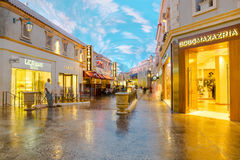 Le forum fait des emplettes tunnel au Caesars Palace à Las Vegas photo stock