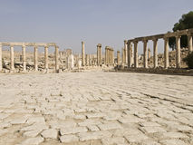 Le forum, Jerash Photo libre de droits