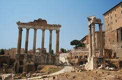 Le forum romain à Rome Photographie stock libre de droits