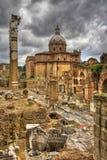 Le forum romain à Rome. Image de HDR. image libre de droits