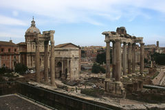 Le Forum.Rome romain Images libres de droits