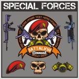 Le forze speciali rattoppano l'insieme - vettore di riserva Fotografia Stock