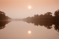 Le fossé chez Angkor Vat Image libre de droits