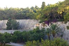 Le fossé du château de Rhodes Photo libre de droits