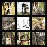 Le fotografie che illustrano l'avventura mette in mostra Fotografia Stock Libera da Diritti