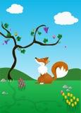 Le Fox et les raisins   Photos libres de droits