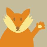 Le Fox indiquent bonjour illustration libre de droits