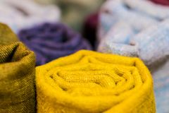 Le foyer mou a brillamment coloré le modèle naturel de textures photo stock