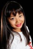 le för flickakorean Royaltyfri Foto