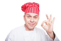 le för kock Arkivbild