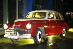 Le fragment de la rétro vieille voiture Volga GAZ - ` de victoire du ` M-20 - la voiture est un symbole de victoire de la Russie  Photographie stock