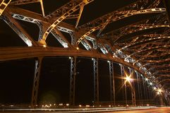 Le fragment de pont en métal Photographie stock