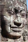 Le framsidor i tempelet av Bayon Royaltyfria Bilder