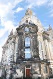 Le Frauenkirche célèbre (église de notre Madame) à Dresde Images libres de droits