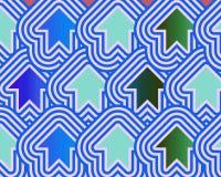 Le frecce di arte di schiocco aumentano il verde blu blu-chiaro Immagini Stock Libere da Diritti