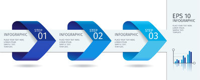 Le frecce di Infographic con aumentano le opzioni Modello di vettore nello stile piano di progettazione royalty illustrazione gratis
