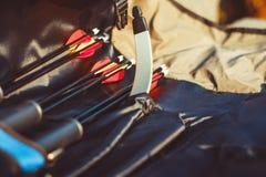 Le frecce sono nel caso Fotografie Stock