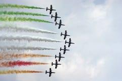 Le Frecce Tricolori, Italie Photo stock