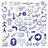 Le frecce vector l'insieme illustrazione di stock
