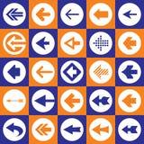 Icone del segno delle frecce messe Fotografia Stock