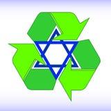 Le frecce verdi riciclano l'illustrazione di simbolo di eco Segno riciclato Icona riciclata ciclo Simbolo riciclato dei materiali illustrazione vettoriale
