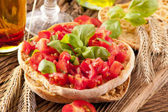 Le Freselle with bruschetta Stock Image