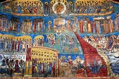 Le fresque Voronet, Roumanie de Jour du jugement dernier photo libre de droits