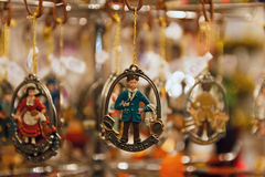 Le Friseur. Christmas ornament, depicting a coiffeur/barber (Friseur in German) at Nuremberg Christmas market stock image