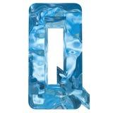Le froid léger bleu a givré la police de saison d'hiver de glace d'eau Photos libres de droits
