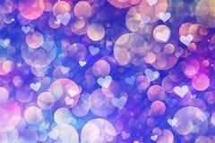 Le froid a peint des bulles et des coeurs de vol dans la disposition chaotique illustration libre de droits