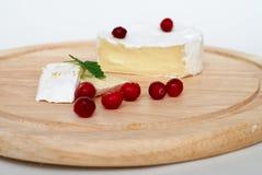 Le fromage à pâte molle et la canneberge. Image libre de droits