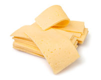 Tranches de fromage images stock