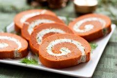 Le fromage roule l'apéritif Photo stock