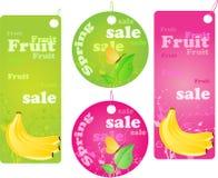le fruit étiquette la source d'achats de vente Image libre de droits