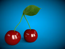 Le fruit de cerise de cerises porte des fruits rouge sain Photo stock