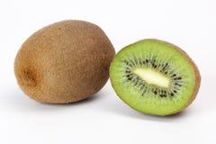 le fruit de fond a isolé le blanc de kiwi Photos libres de droits