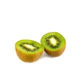 le fruit de fond a isolé le blanc de kiwi Image libre de droits