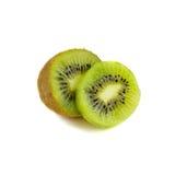 le fruit de fond a isolé le blanc de kiwi Images stock